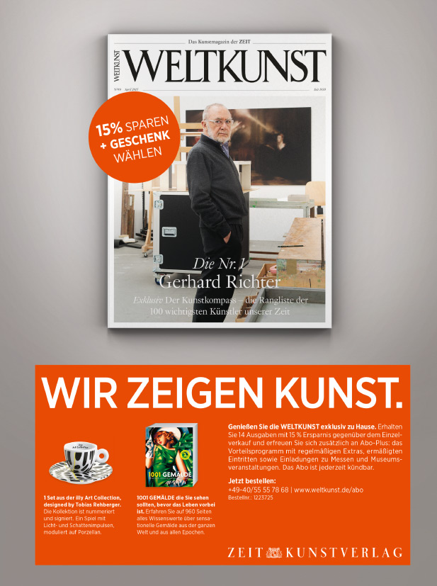 Weltkunst Abo-Anzeige