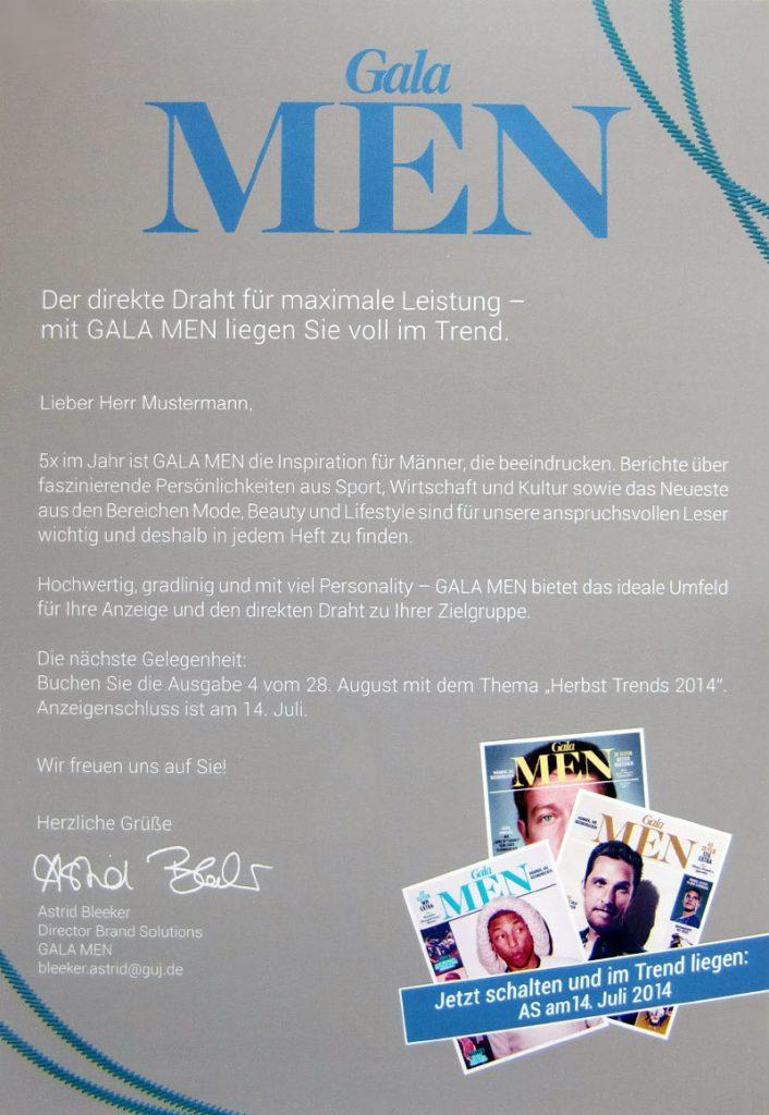 Gala men B2B Mailing