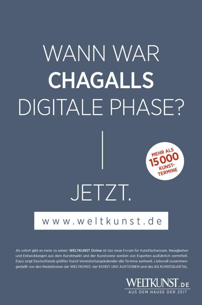Kampagnenentwicklung Weltkunst online