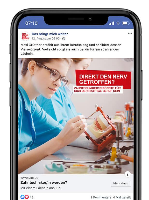 Bundesagentur für Arbeit Facebook Post