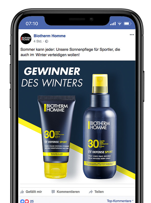 BIOTHERM Facebook Post
