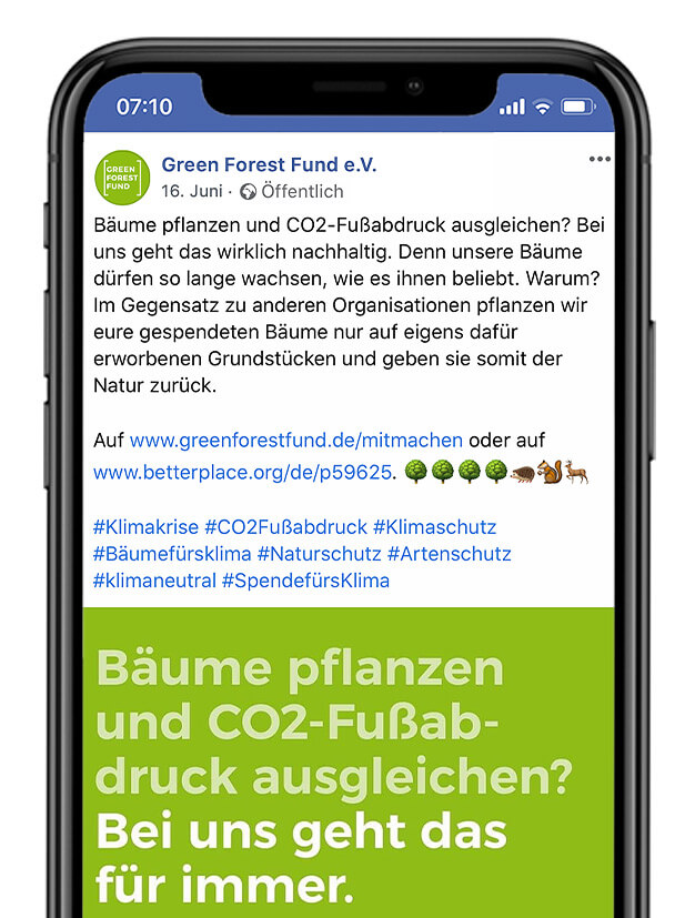 Green Forest Fund Facebook Post