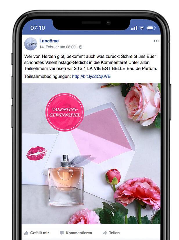 Lancôme Facebook Post