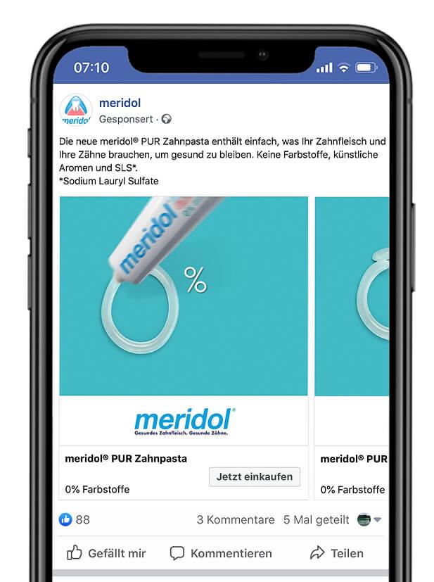 Meridol Facebook Post